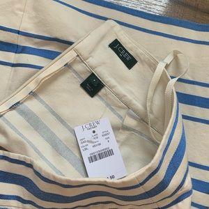 J. Crew Factory Skirts - J.Crew Metallic Blue Striped Mini Skirt